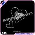 Wholesale Bling love heart motif iron on rhinestone transfer