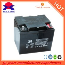 deep cycle AGM battery 12V 33ah Maintenance free type vrla battery