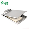 Small high quality customized logo sliver aluminum cheap storage clipboards