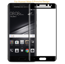 2016 New High Quality 9H 3D Curved Edge to Edge Full Cover Tempered Glass Screen Protector for HUAWEI Mate 9 PORSCHE DESIGN