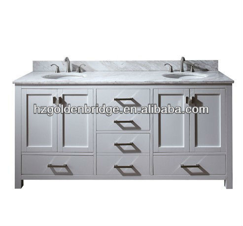 72 inches Traditional Double Basin Solid Wood Bathroom Vanity