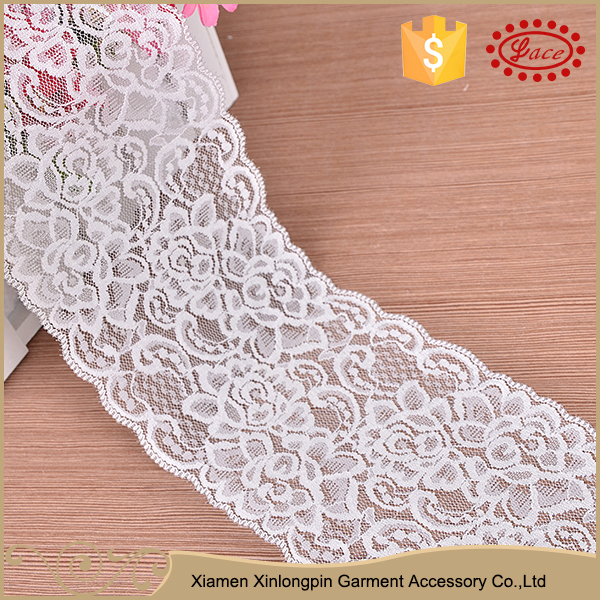 Unique embroidered luxury dubai style nylon guipure lace trim