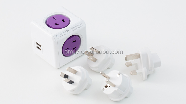 New products Power Cube with travel plugs wholesale