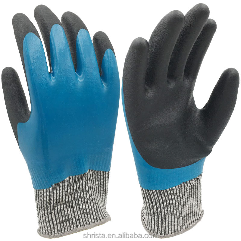 PVC Hand Protection safety gloves for construction