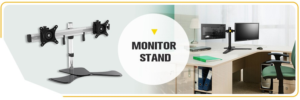 New Products Durable vesa computer monitor mount gas spring arm desk clamp mount,desktop monitor holder stand