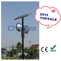 2013 High Lumens 4w 6w 8w 10w Solar LED Garden Light 3m 4m pole