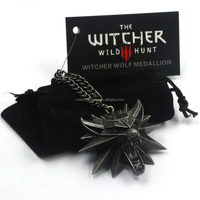 New Arrival Melone Retro The Witcher 3 Necklace With Red Eye Wolf Head Pendant