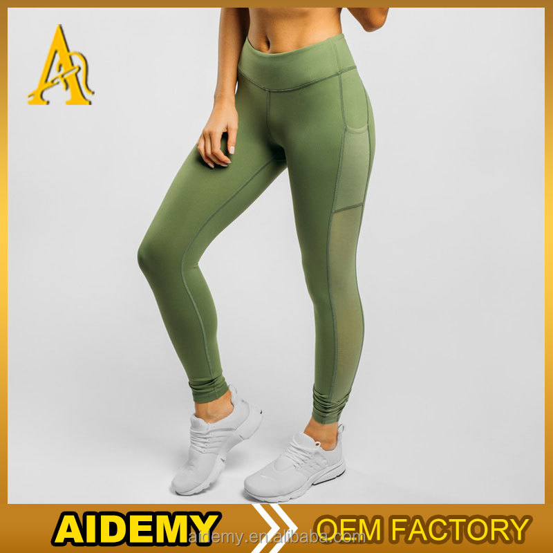 Dongguan fitness activewear custom brazilian fitness wear leggings with mesh