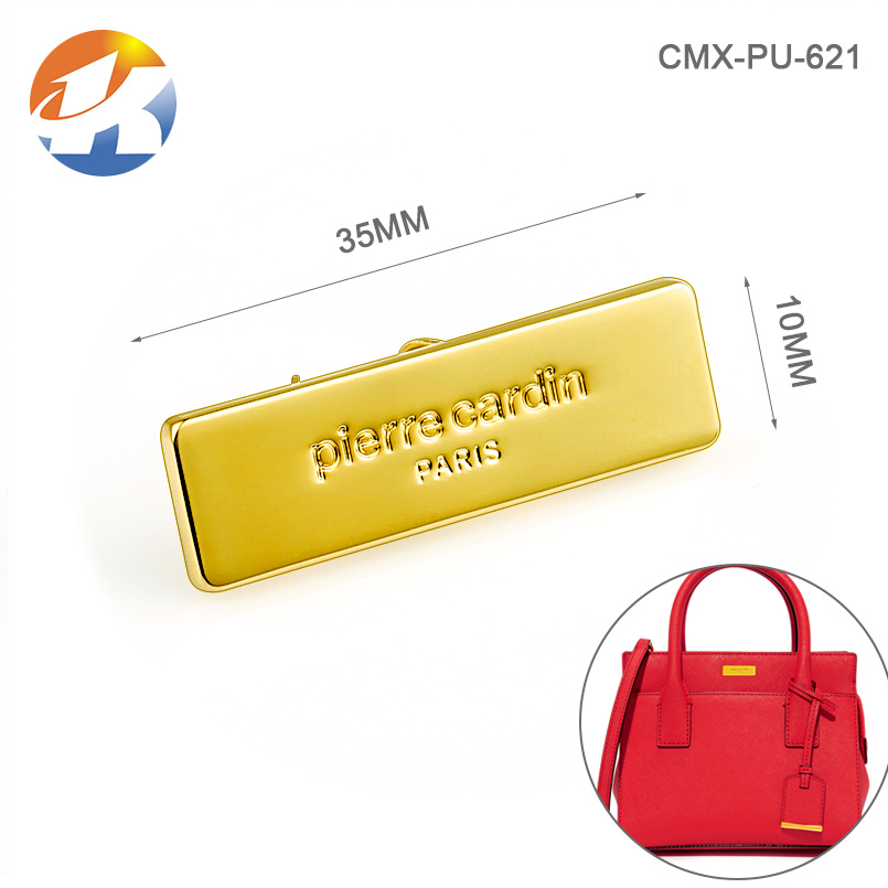 Professional Custom Gold Handmade Metal Label For Handbag