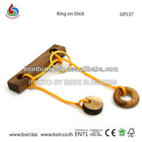 wooden puzzles Ring on Stick