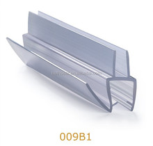 Glass Shower Door Hinges PVC Edging Strip for Bathroom