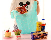 designer funny promotional reusable foldable polyester shopping bag