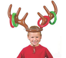 Christmas Deer Head Shape Ferrule inflatable Game For Kids