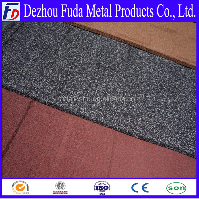 Green Shingle stone coated metal roofing tiles