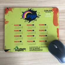 FDT Customized large size calendar design rubber mouse pad manufacturer