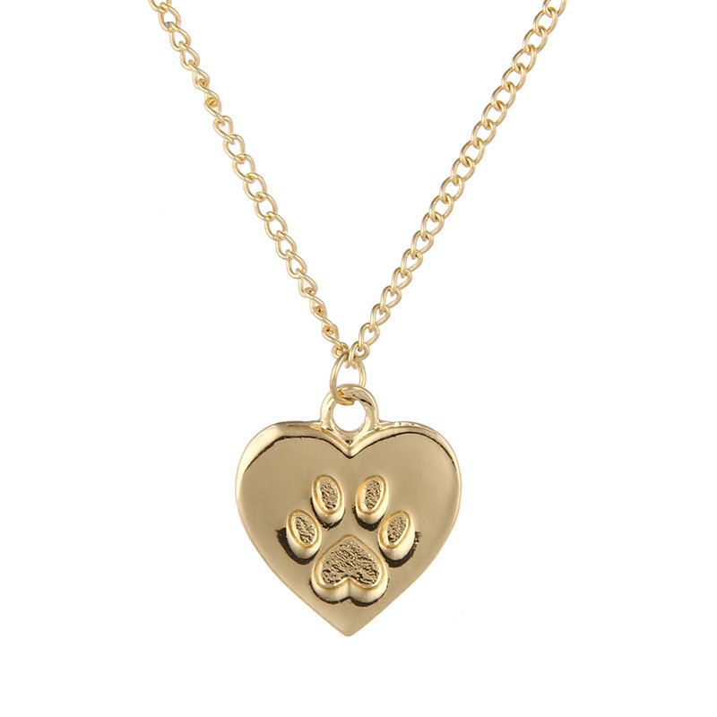 YWMT 2018 New Design Wholesale <strong>18</strong> <strong>k</strong> Gold-plated Bowknot Heart Animal Print New Model Wedding Necklace For Women