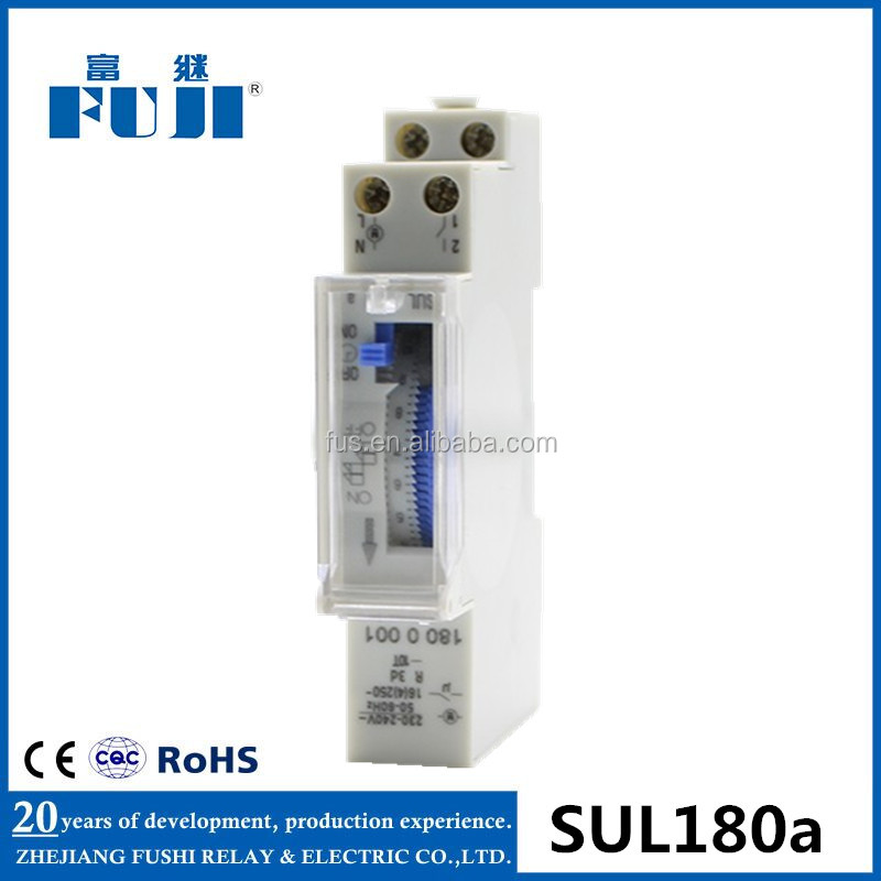 Factory Price Hot Sale 24 Hour 230VAC With Battery Mechanical Programmable Time <strong>Switch</strong> SUL180a