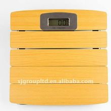 Wood bathroom scale