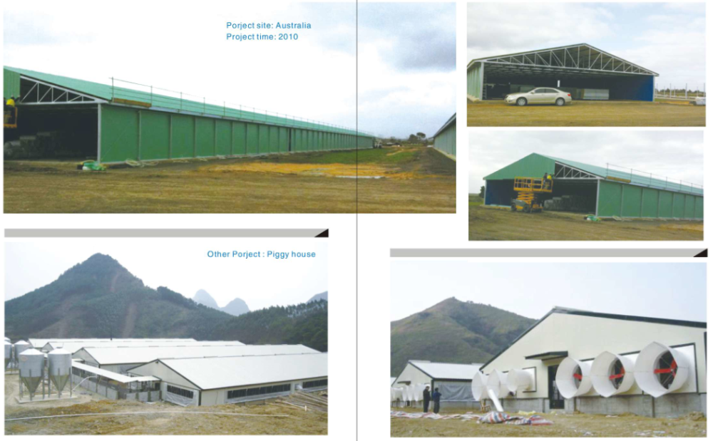 whole low cost light frame steel structure broiler/layer poultry house farm shed