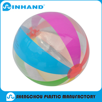 2016 fashion Eco-friendly pvc inflatable beach balls/water ball for baby