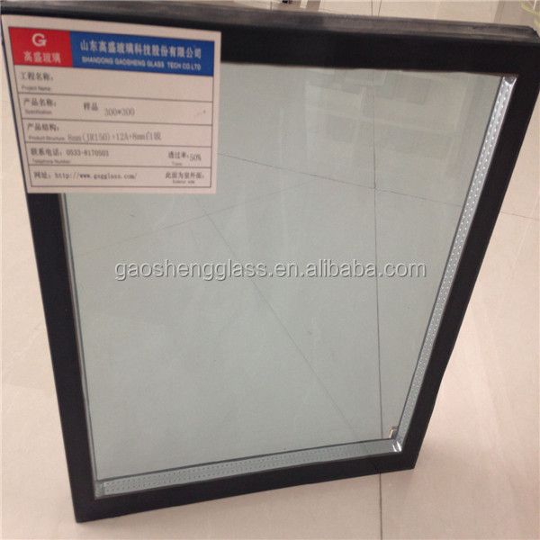 Top quality reasonalbe price insulated low - e glass for garage door