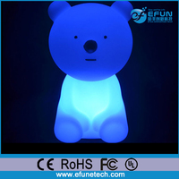 CE Rohs remote control rgb color changing led illuminated novelty battery kids night lamp