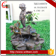 handmade polyresin angel baby waterfall fountain