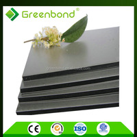Greenbond flexible decoration plastic wall materials with adhesive film aluminum composite panel from china