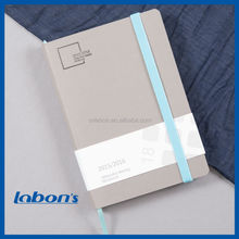 nice quality a5 pu leather notebook with customized logo