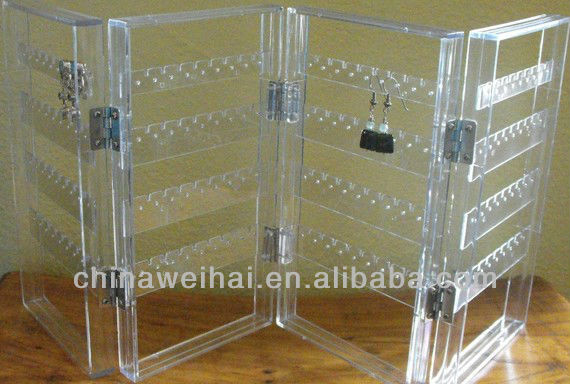 Transparent acrylic magazine rack