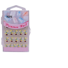 private package colorful lovely kids press on false nails tip full cover