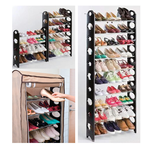 10 tier shelf amazing plastic shoe rack /organizer/stand for 30 pair shoes for sale