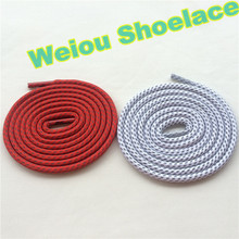 Weiou 3M black shoe strings 3m reflective rope laces white round shoelaces