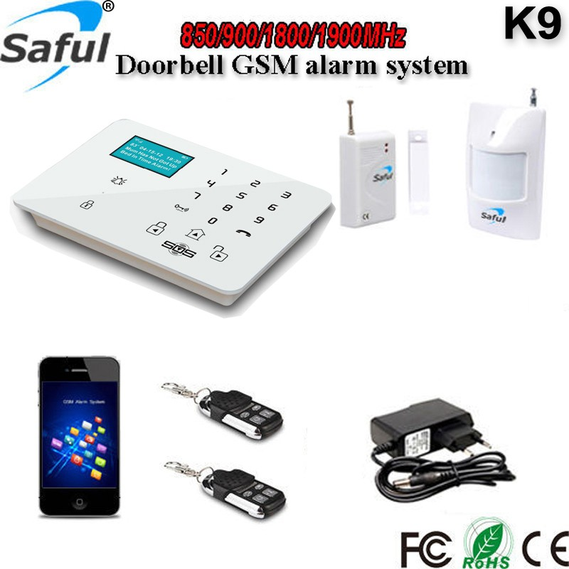 New Product! K9 GSM Alarm System Touch Keypad LCD Display 99 Zones for <strong>Security</strong>