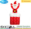 Airblown Inflatable Lighted 4-8ft Santa Claus up and down in Chimney yard decor lawn decoration