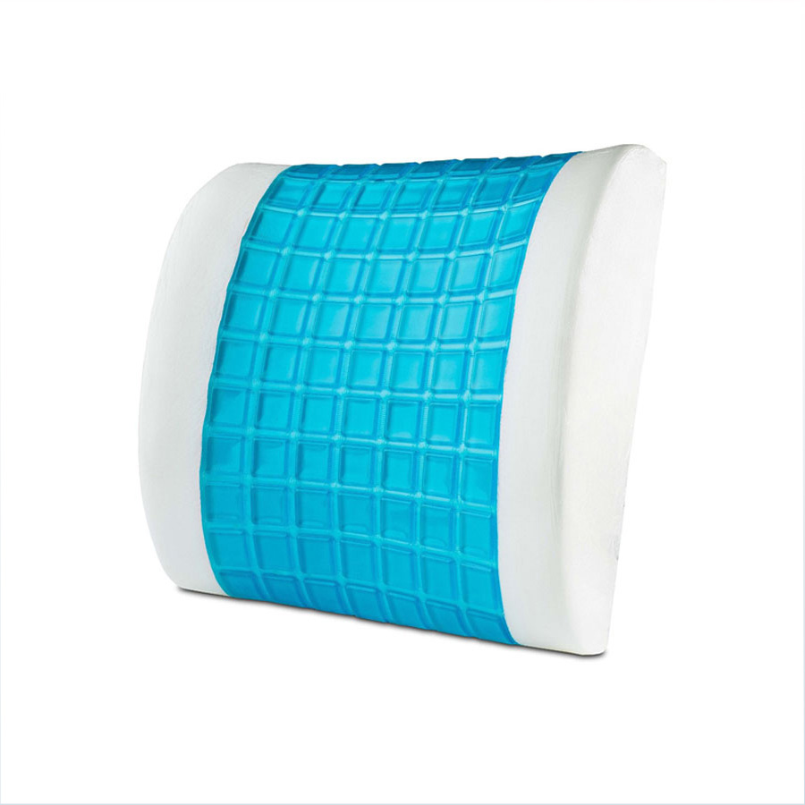 Memory Foam 3d Ventilate Mesh Back Lumbar Support Cushion Pillow Back Pain Cushion Waist Pillow