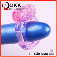 15 Speeds Vibrating Rabbit Cock Ring Dildo Sleeve Cock Sleeve for Men Penis Extension Ring Sex Toys for Men Sex Vibrator XF201
