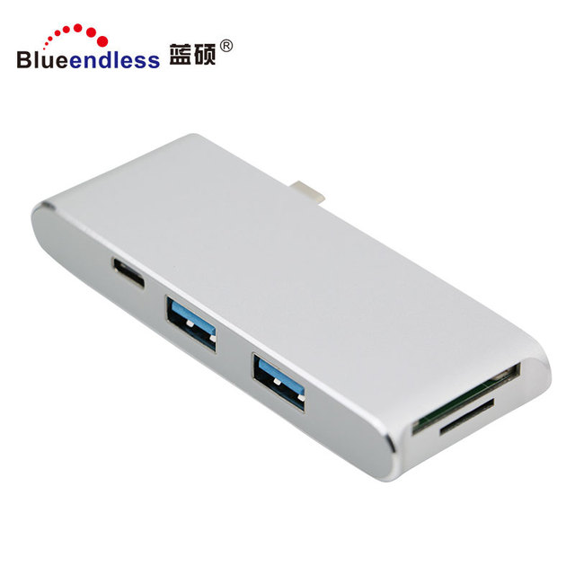 USB3.0 A port hub HD MI TF SD card usb hub 3.1 type c hub with card reader