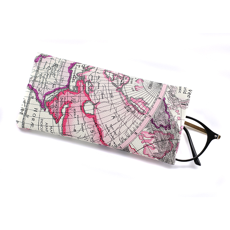 Factory supply fashion glasses pouch wholesale OEM quality custom color and logo PU leather eyeglasses pouch