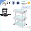 medical cart tempering glass salon trolley