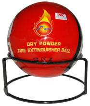 Dry powder fire extinguisher ball for extinguishing ABCEF fire