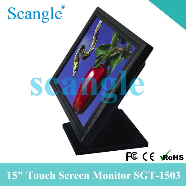 Cheap 15inch LCD touch screen <strong>monitor</strong>/Oled touch screen display support OEM