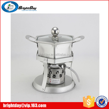 Small hot pot with alcohol stove China Stainless steel hot alcohol stove