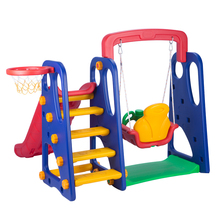 Kids Outdoor Playground Plastic Swing And Slide
