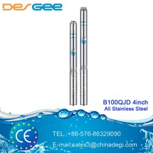 DEGEE 4inch vertical deep mini well centrifugal water pump stainless steel submersible pump B100QJD