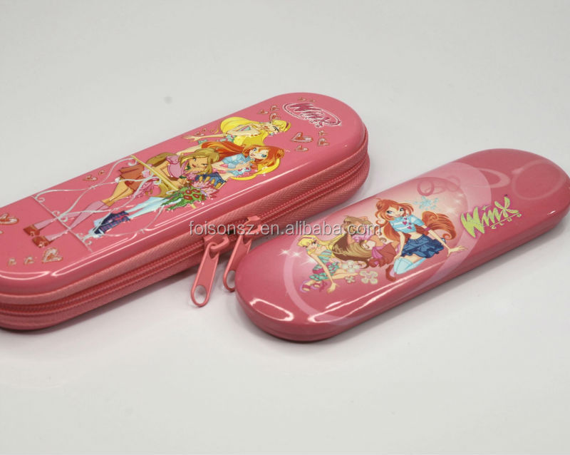 tin pencil case for kids with zipper