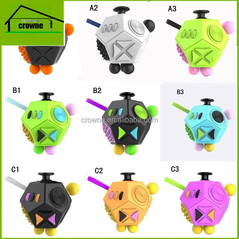 2017 hot item Hand Spinner 12 Sides Fidget Cube, Anti Stress Cube Desk Toys for Children and Adults