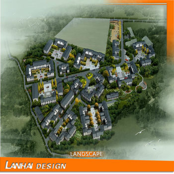 Landscape Rendering Architecture Drawing