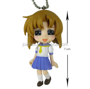 custom make pvc anime girl figure keychain,custom 3d anime figures keychain