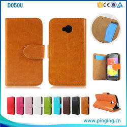 High End Cell Phone Case , Book Style Leather Wallet Case For BLU Dash L/D050U With Cards Slots